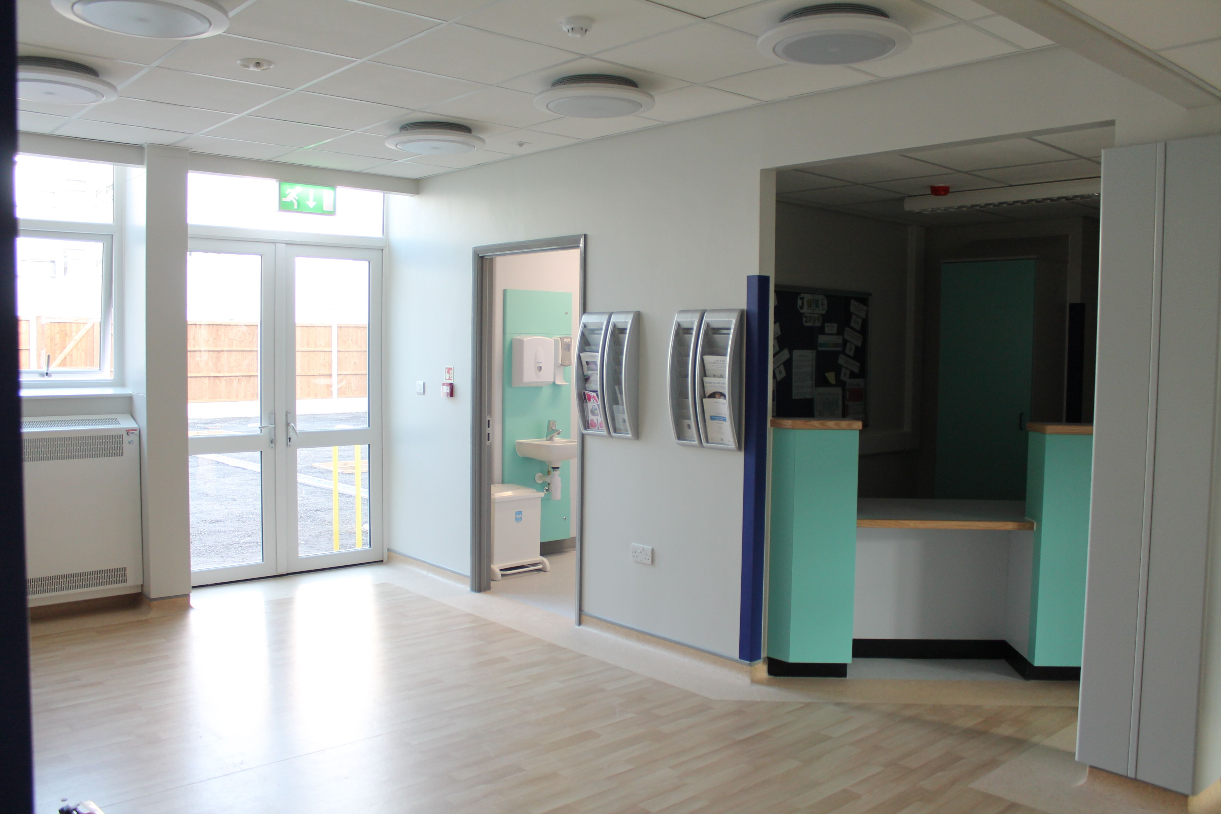 The Unit's reception area Intensive care unit, The unit