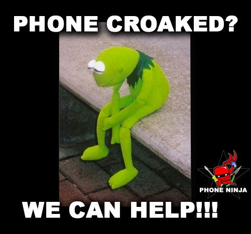1143c49b1d6  kermit  muppets  frog  sad  phone  mobile  craoaked  repair  fix  perth   luckyday  memes