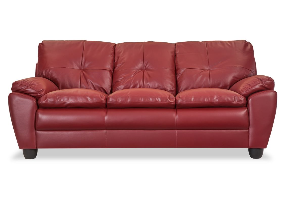 3 Seater Red Colour Leather Sofa Online 5 Year Warranty Sofa Images Red Leather Sofa Cushions On Sofa