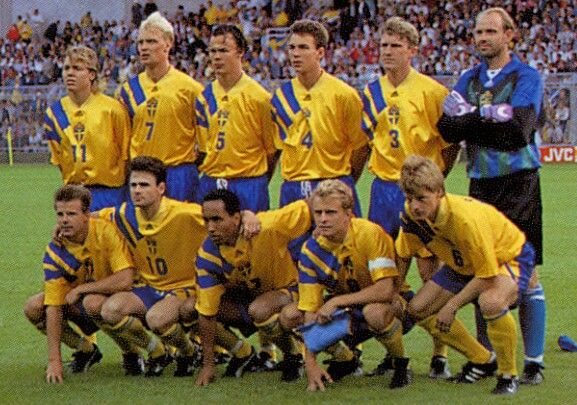 Sweden team group at the 1992 European Championship.