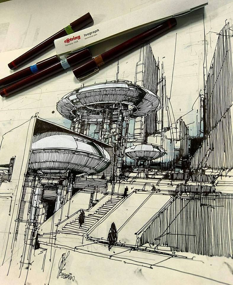 Pin de arturo agudelo en sketch architektur zeichnungen architektur y skizzen - Architektur skizzen zeichnen ...