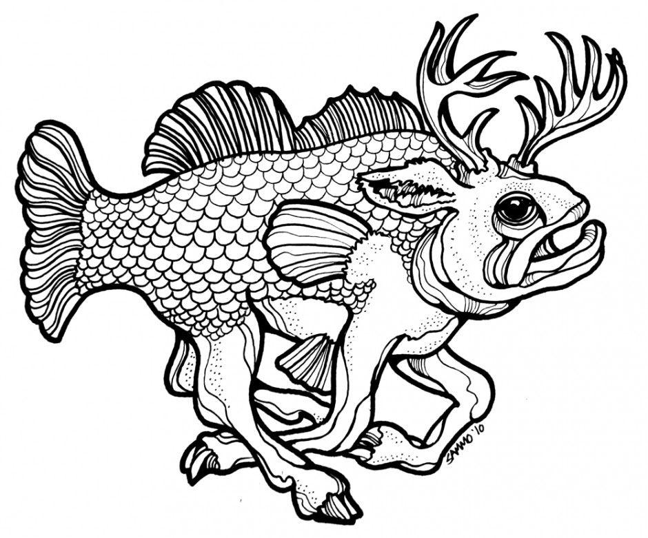 Best Bass Fish Outline 18272
