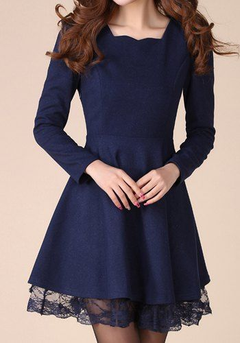 Stylish Long Sleeve Women's Dress