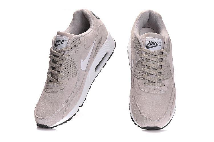 Nike Air Max 90 Essential Suede Classic StoneSailDark Grey