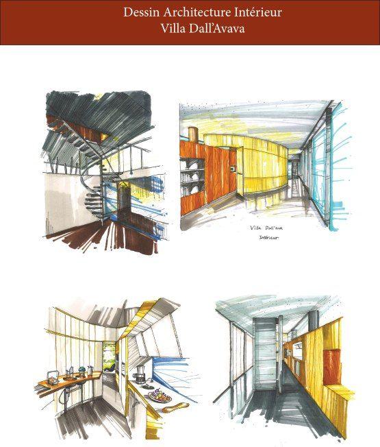 Villa dallu0027Ava-Rem Koolhaas Sketch Arquitetura Pinterest Rem