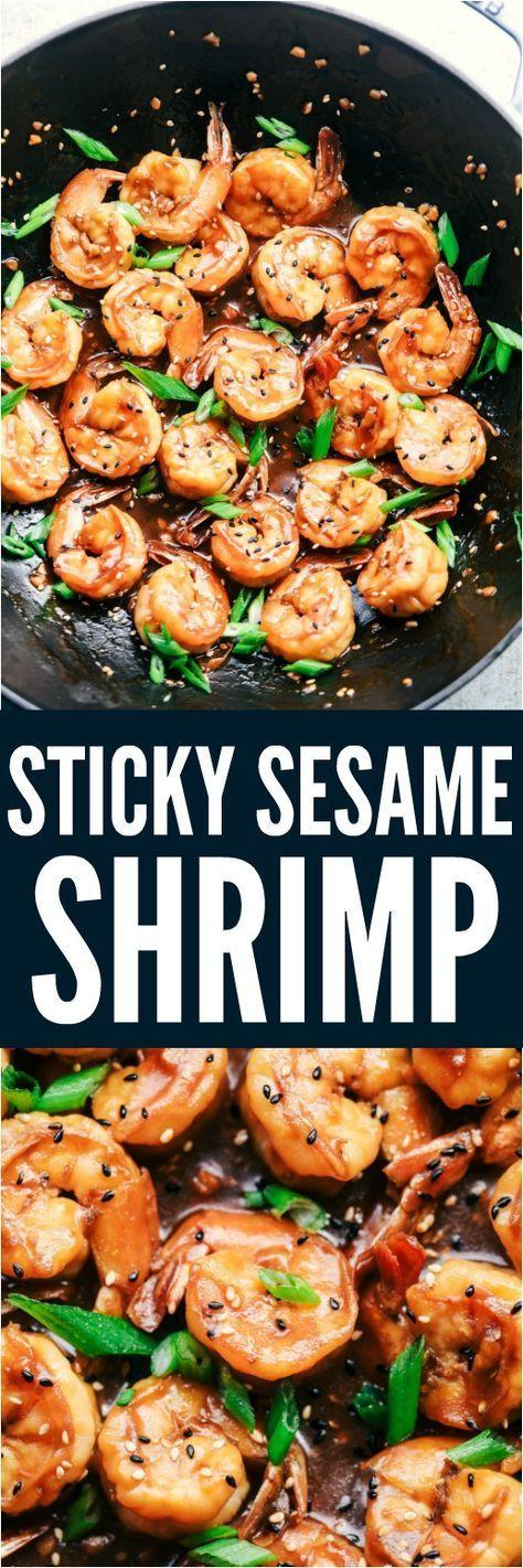 Sticky Sesame Garlic Shrimp | The Recipe Critic