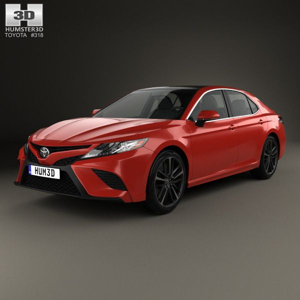 Toyota Camry XSE 2018 3d Model From Hum3d.com.