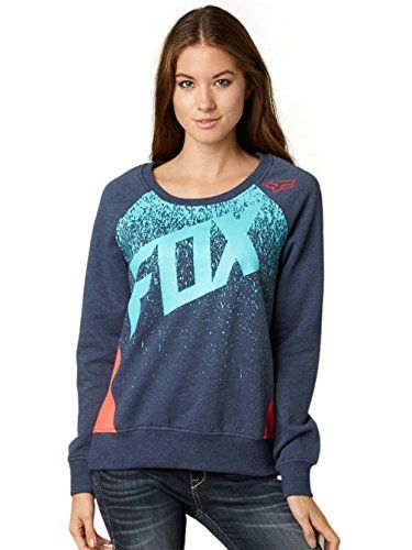 Fox Juniors Awake Pullover Color Block Sweatshirt Heather Navy Large >>> Click on the image for additional details.