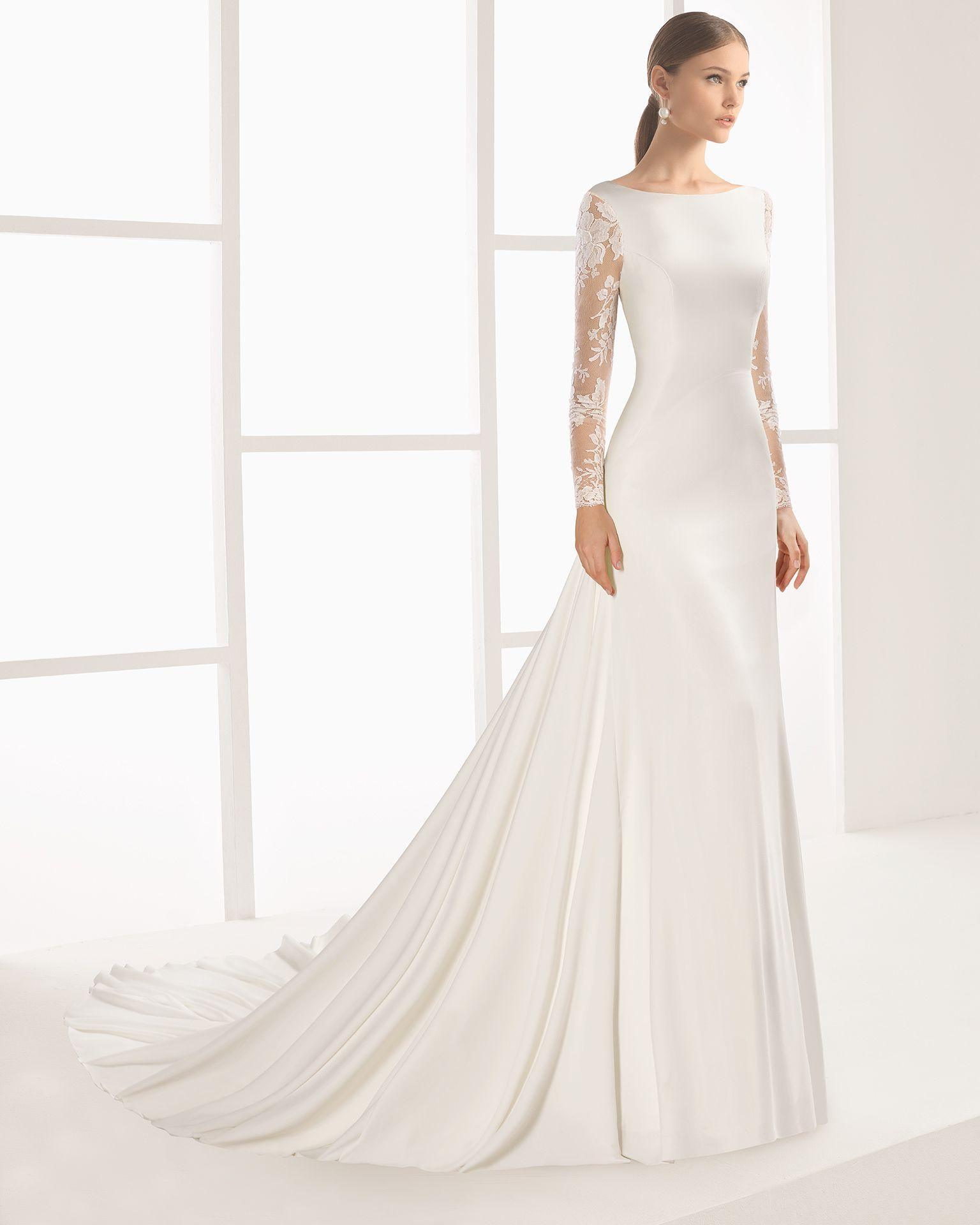 Natural color wedding dress
