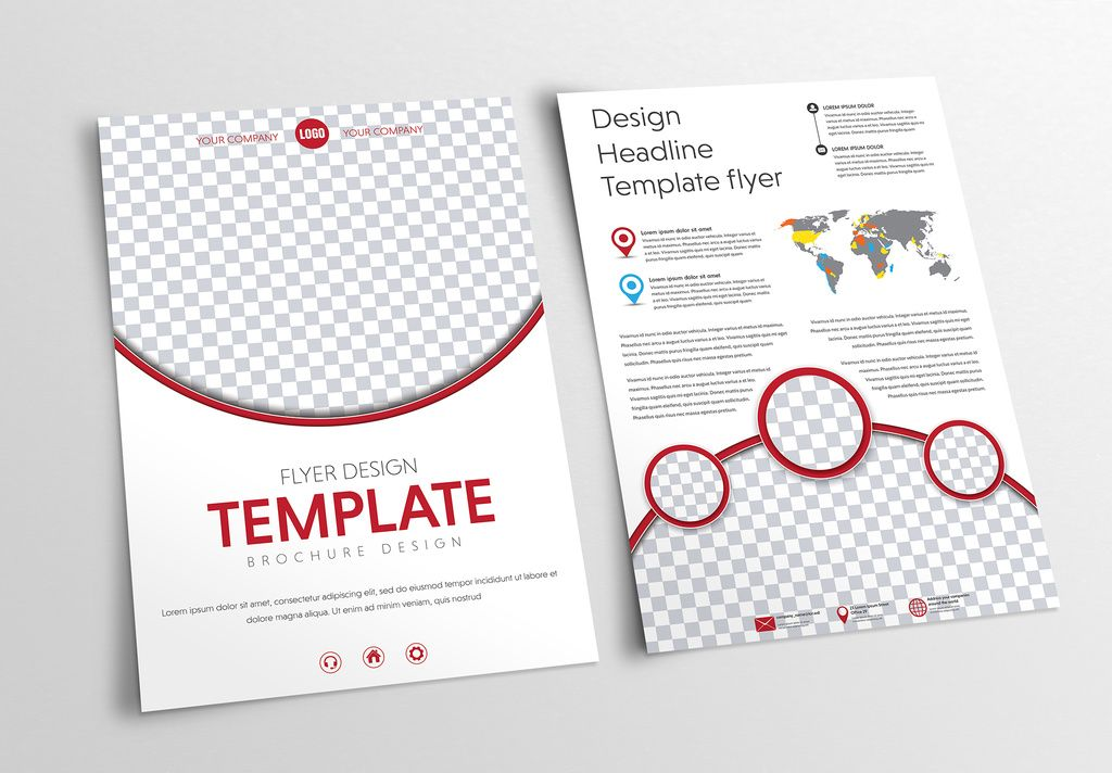 circular header and footer flyer layout 1 buy this stock template