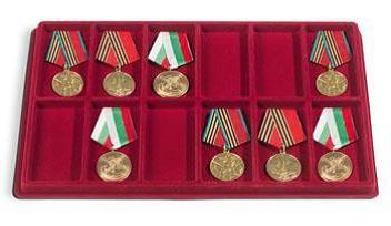 Avec 12 Cases Rectangulaires Pour Ranger Vos Medailles Militaires Format 95 47 Mm Avec Une Hauteur De 12 Mm Vendu Par 2 Rangement Collection