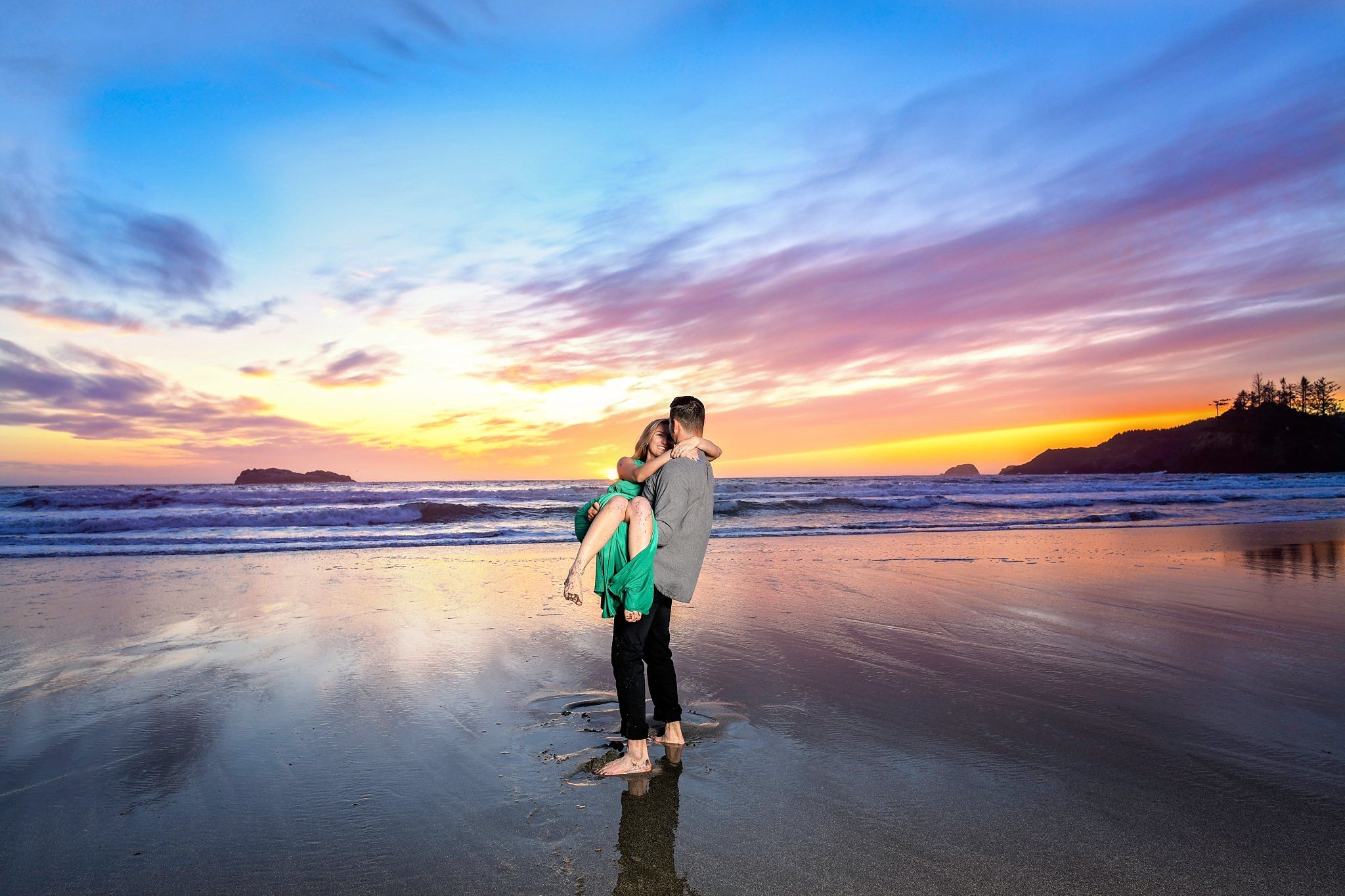 College Cove & Trinidad State Beach Engagement Session