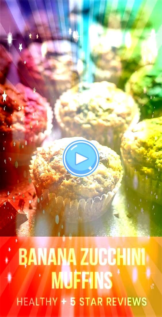 Banana Zucchini Muffins with whole wheat flour maple syrup and   Muffins Rezept Chocolate Chunk Banana Zucchini Muffins with whole wheat flour maple syrup and   Muffins R...