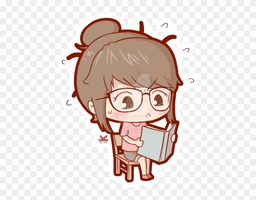 Find Hd Anime Chibi Study Png Anime Chibi Girl Studying Transparent Png To Search And Download More Free Transparent Png Image Chibi Girl Chibi Anime Chibi