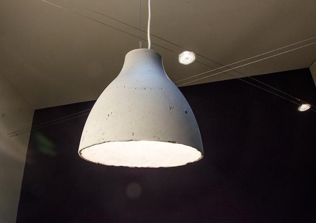 Lampada In Cemento Fai Da Te : Ikea hack how to make a modern concrete pendant lamp curbly