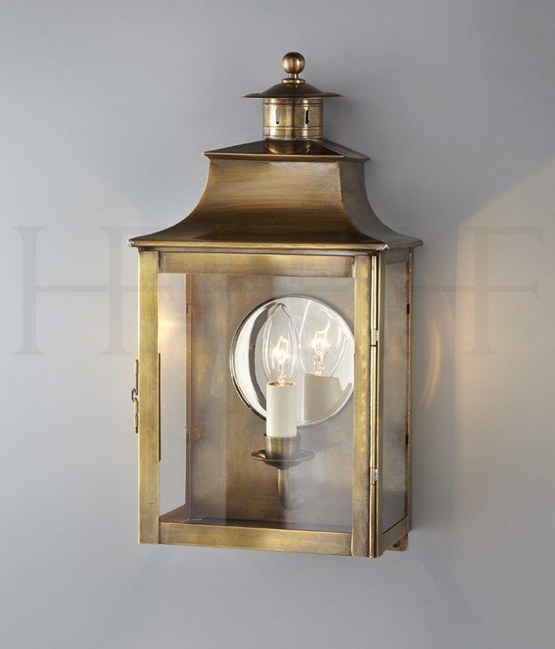 Square Lantern With Chimney And Mirror Lighting Wall Lantern Lanterns