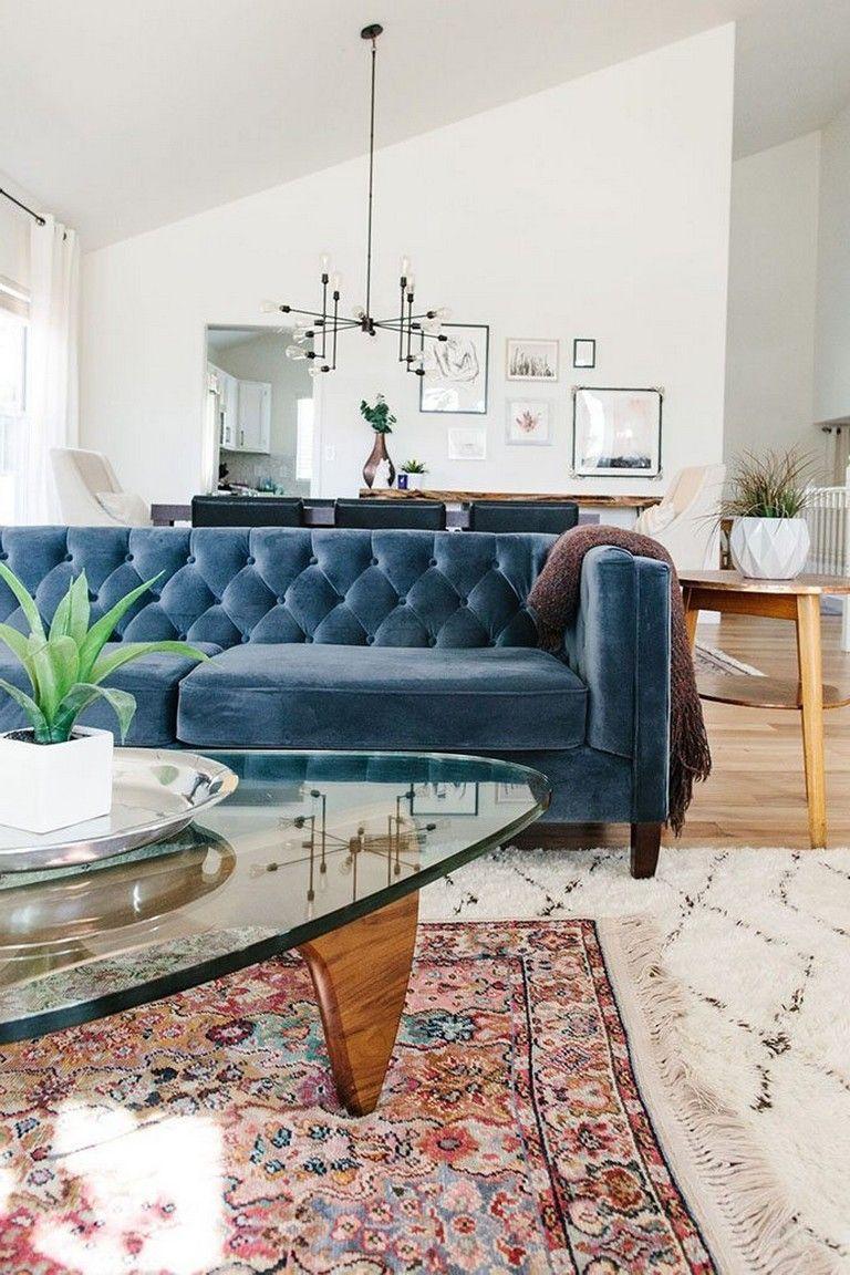 15 Gorgeous Blue Velvet Sofa Ideas Homedecor Homedecoraccessories Homedecorideas Blue Velvet Sofa Living Room Living Room Design Decor Velvet Living Room