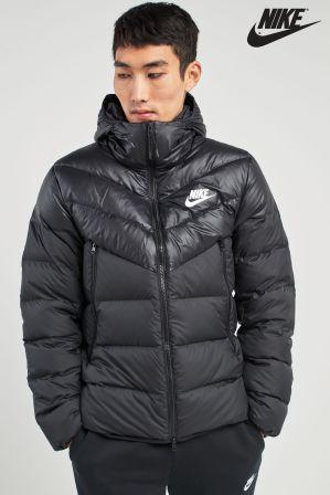 5d5c515d91 Mens Nike Down Filled Jacket - Black