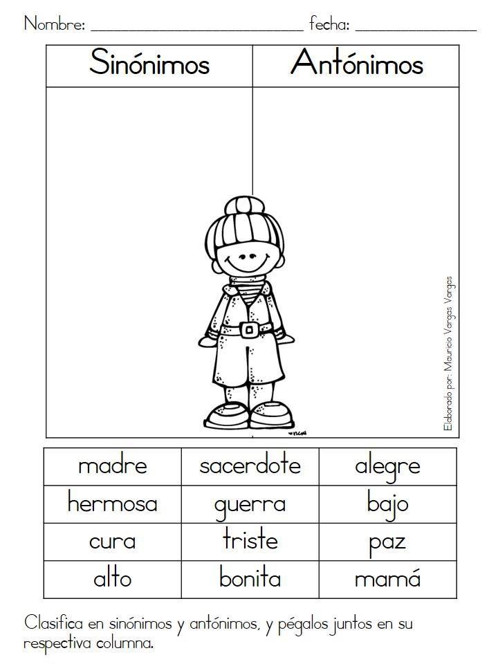 Fichas de repaso, vocales y consonantes, masculino y femenino ...