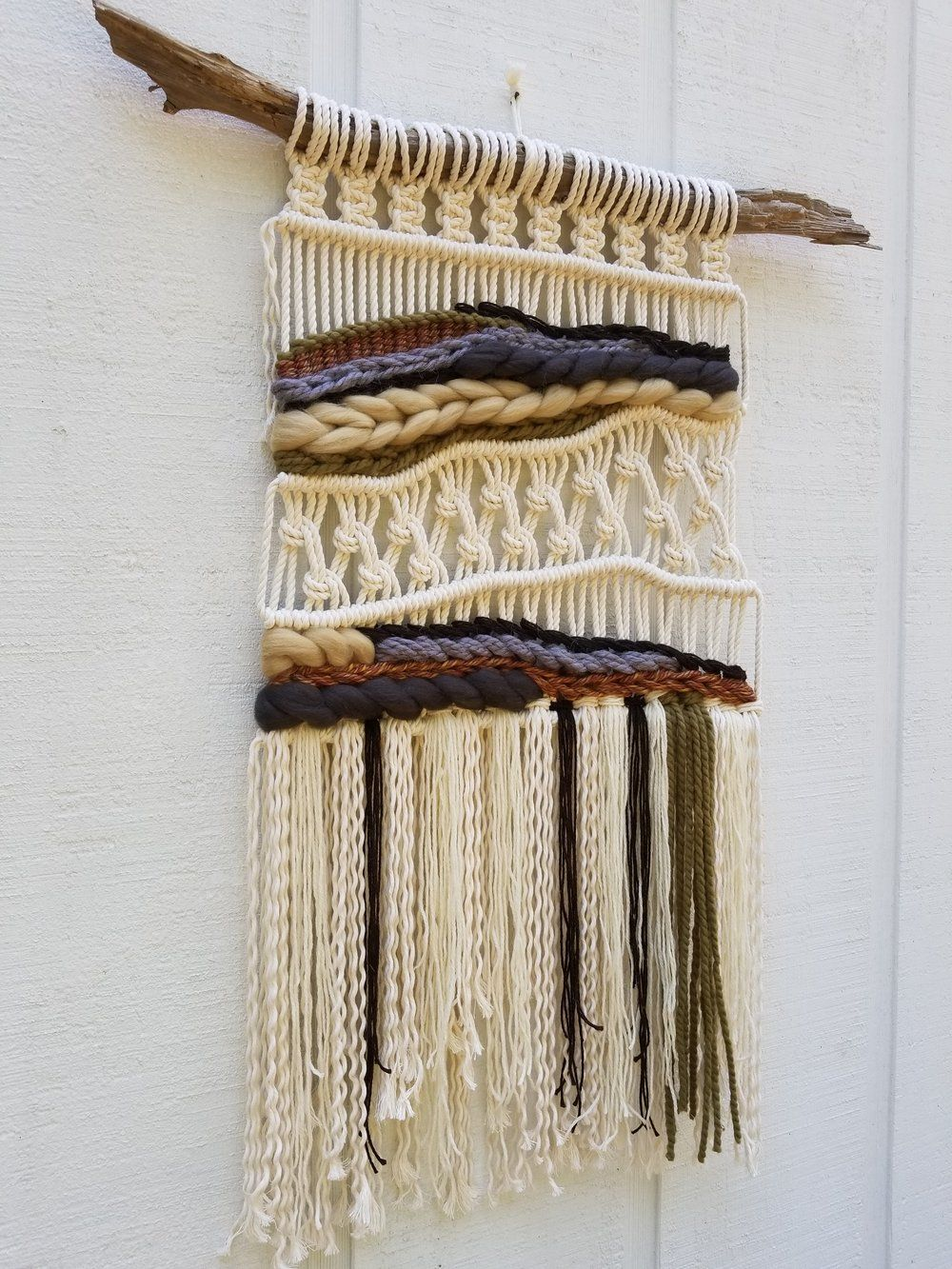 vintage inspired macrame wall hanging woven wall hanging on macrame wall hanging id=58442