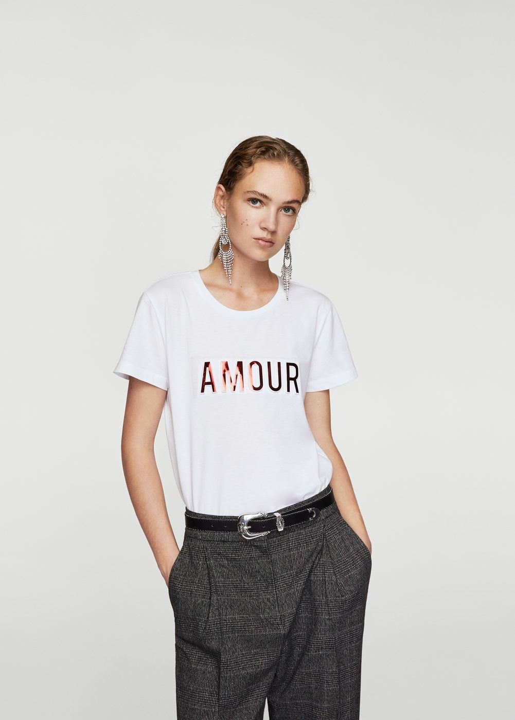 5261a3be5 Camiseta texto relieve - Mujer en 2019 | Camisetas | Camisetas ...