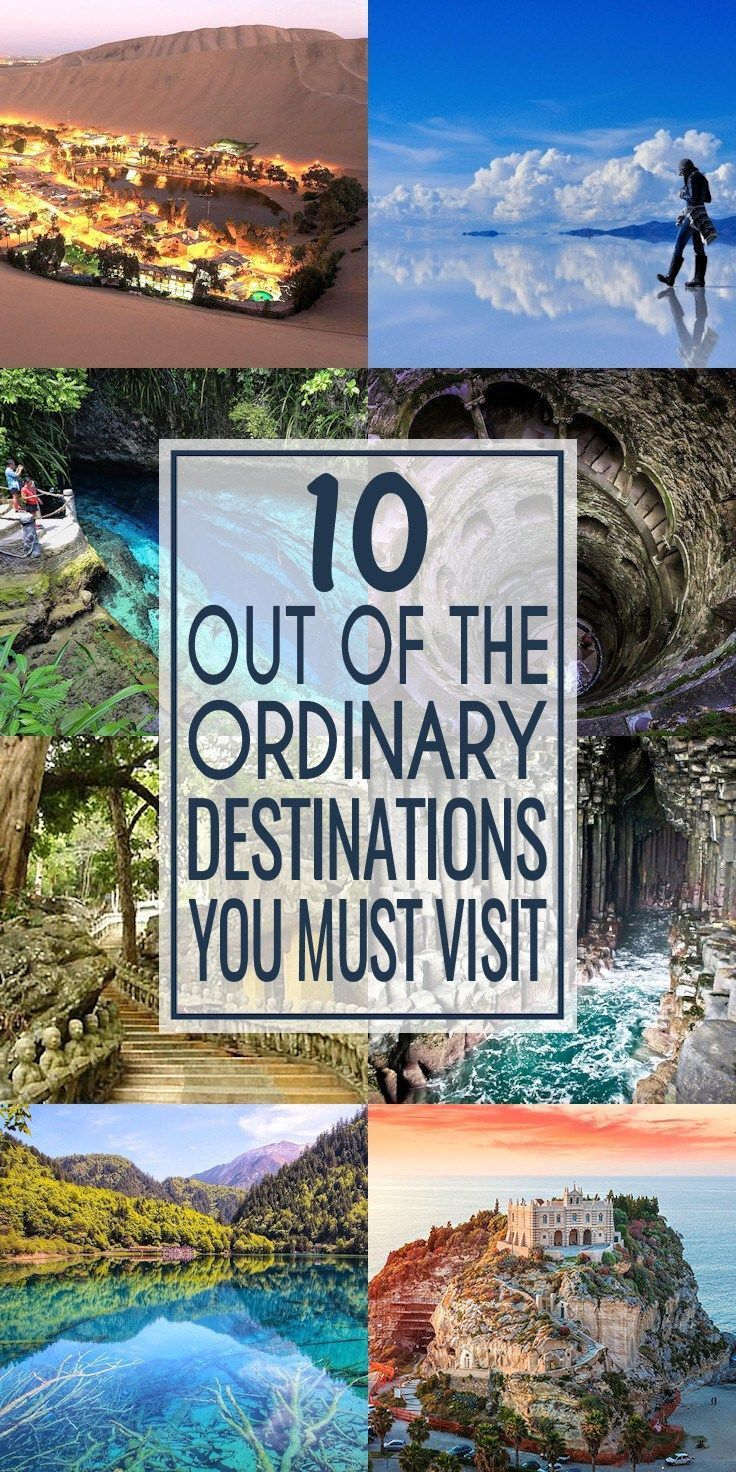 This is the top 10, out of the ordinary, destinations that should be on your travel bucket list. | travel destinations bucket lists top 10 adventure #travel #traveldestinations #travelbucketlist #bucketlist #ultimatebucketlist #bucketlistideas