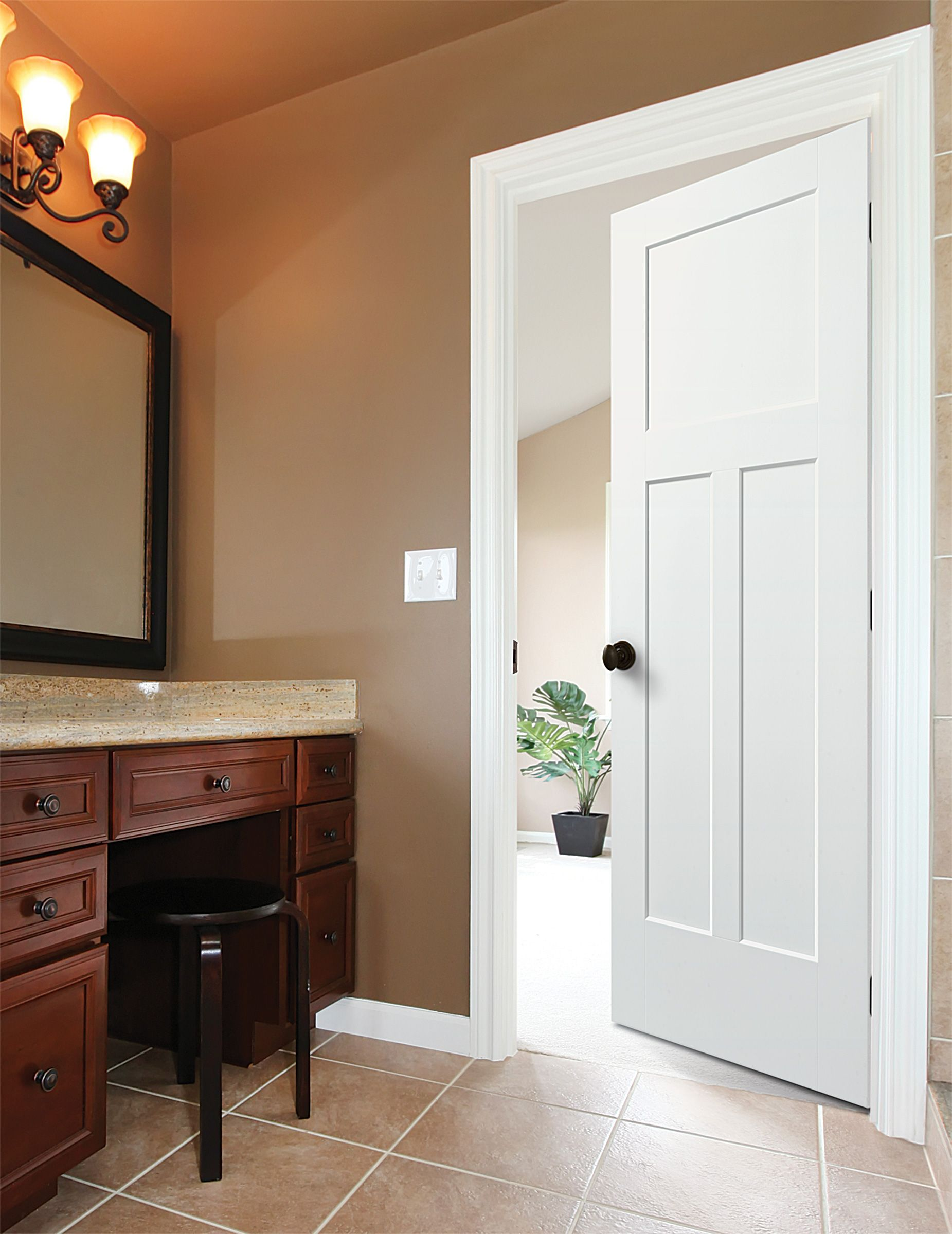 Masonite Heritage Series Winslow Style Craftsman Interior Bathroom Door