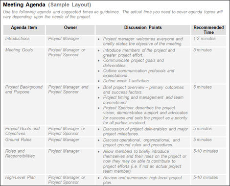 Agendas Keep Your Project Meetings On Track  Blogs    Project