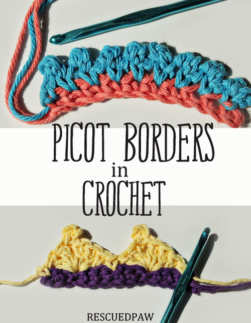 Picot Borders Crochet Tutorial | crocheat | Tejidos
