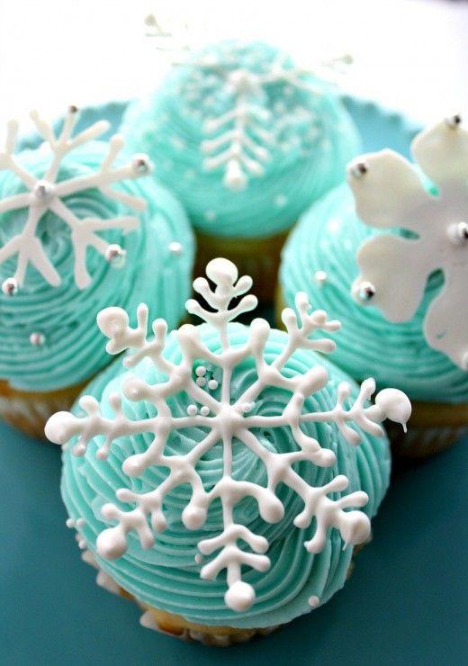 Photo of Snowflake Cupcakes – Yum Goggle