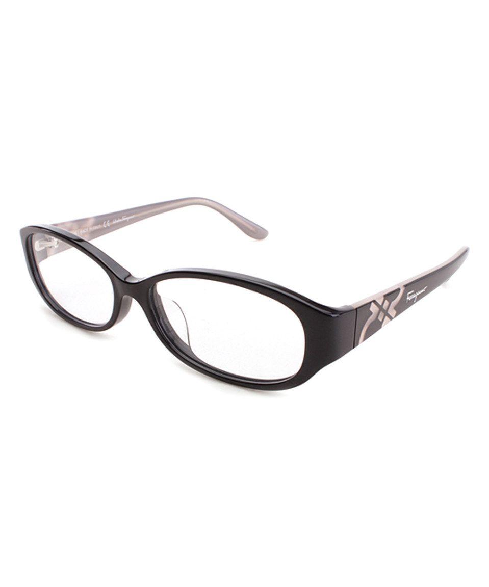 de83e42d46c Look at this  zulilyfind! Salvatore Ferragamo Black Oval Eyeglass Frames by Salvatore  Ferragamo