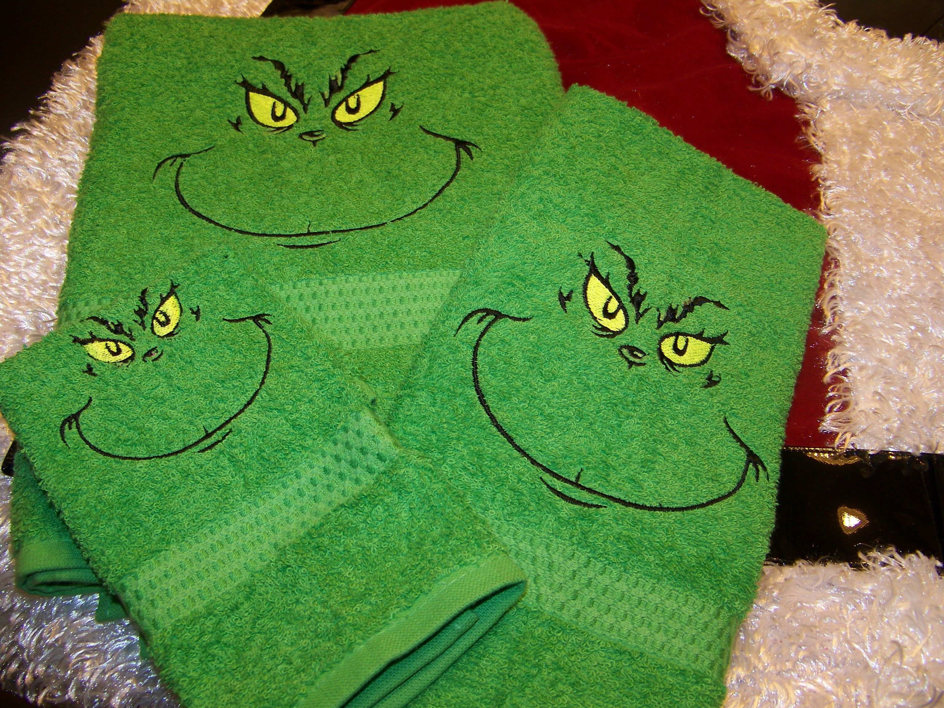 Grinch Towel Setand These Are For