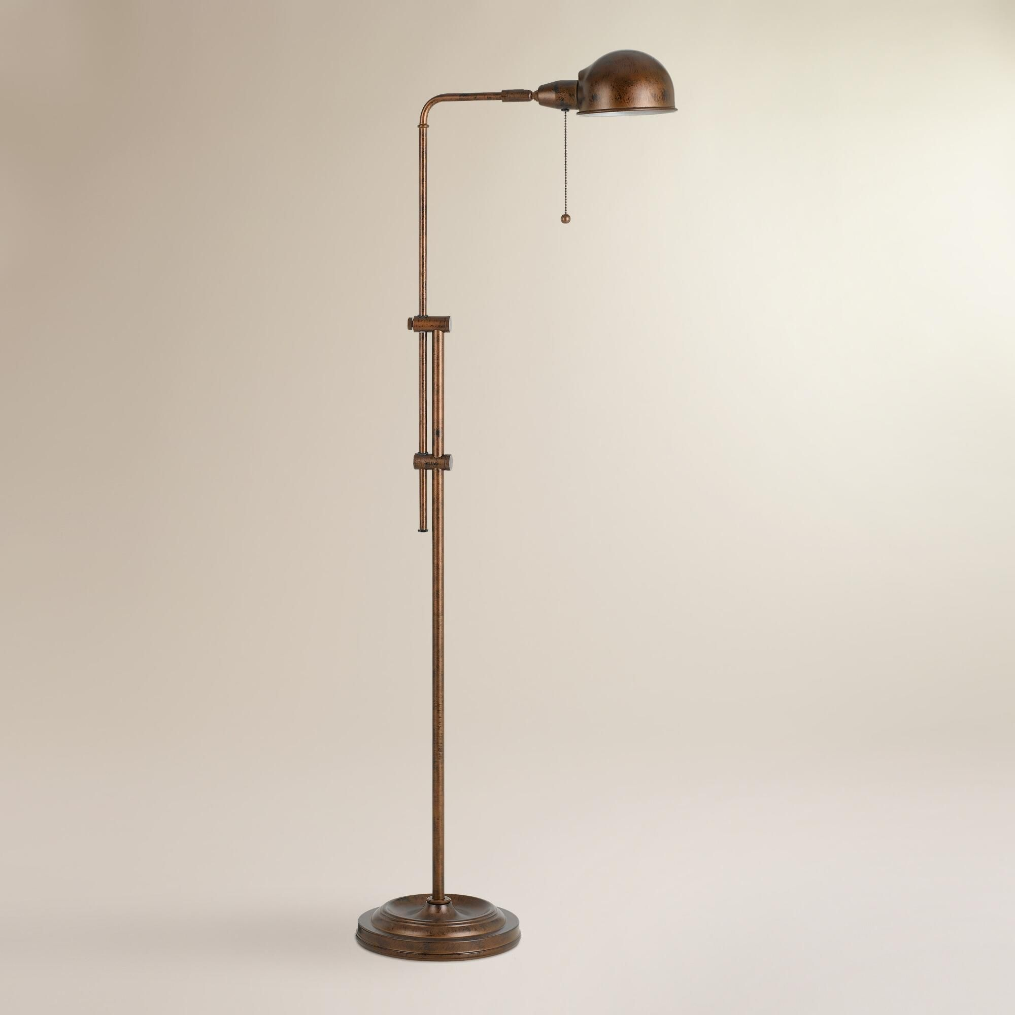 With its adjustable pole our rust crosby pharmacy floor lamp is an with its adjustable pole our rust crosby pharmacy floor lamp is an attractive light source aloadofball Image collections