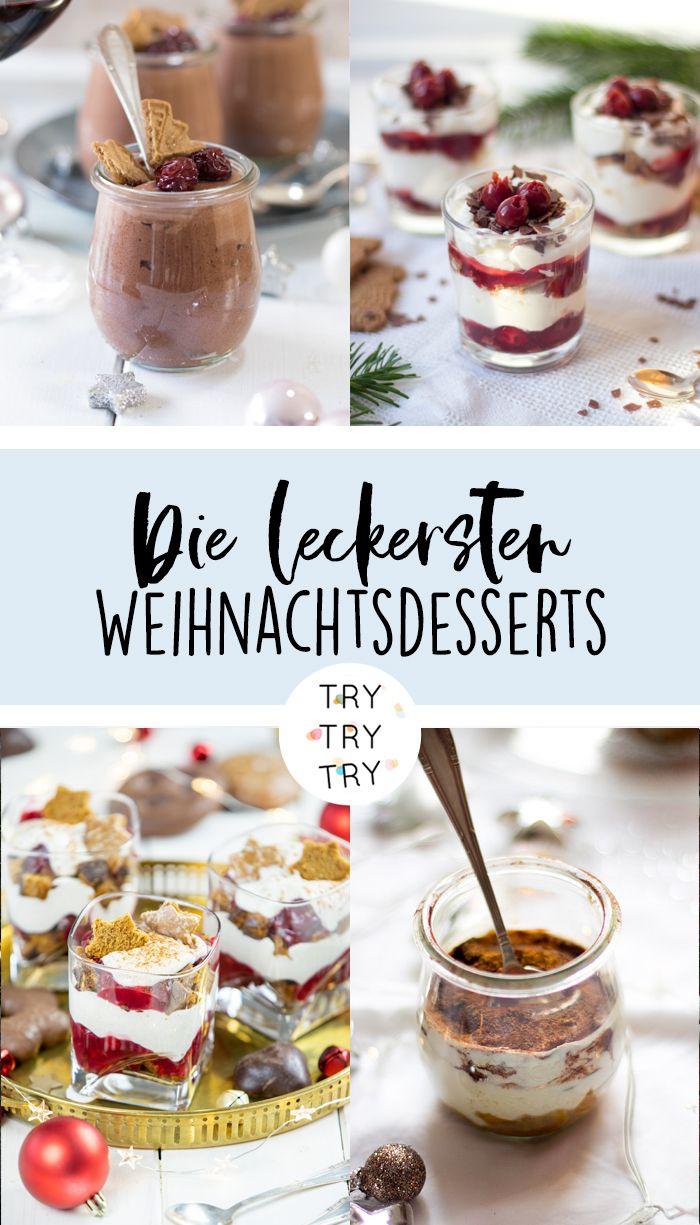 Weihnachtsdesserts / Dessert im Glas / Dessert für Weihnachten / Schicht-Dessert / Nachtisch für Weihnachten #nachtischweihnachten