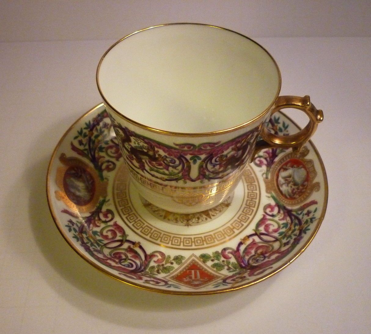 Antique C 1873 Sevres Cup and Saucer | eBay