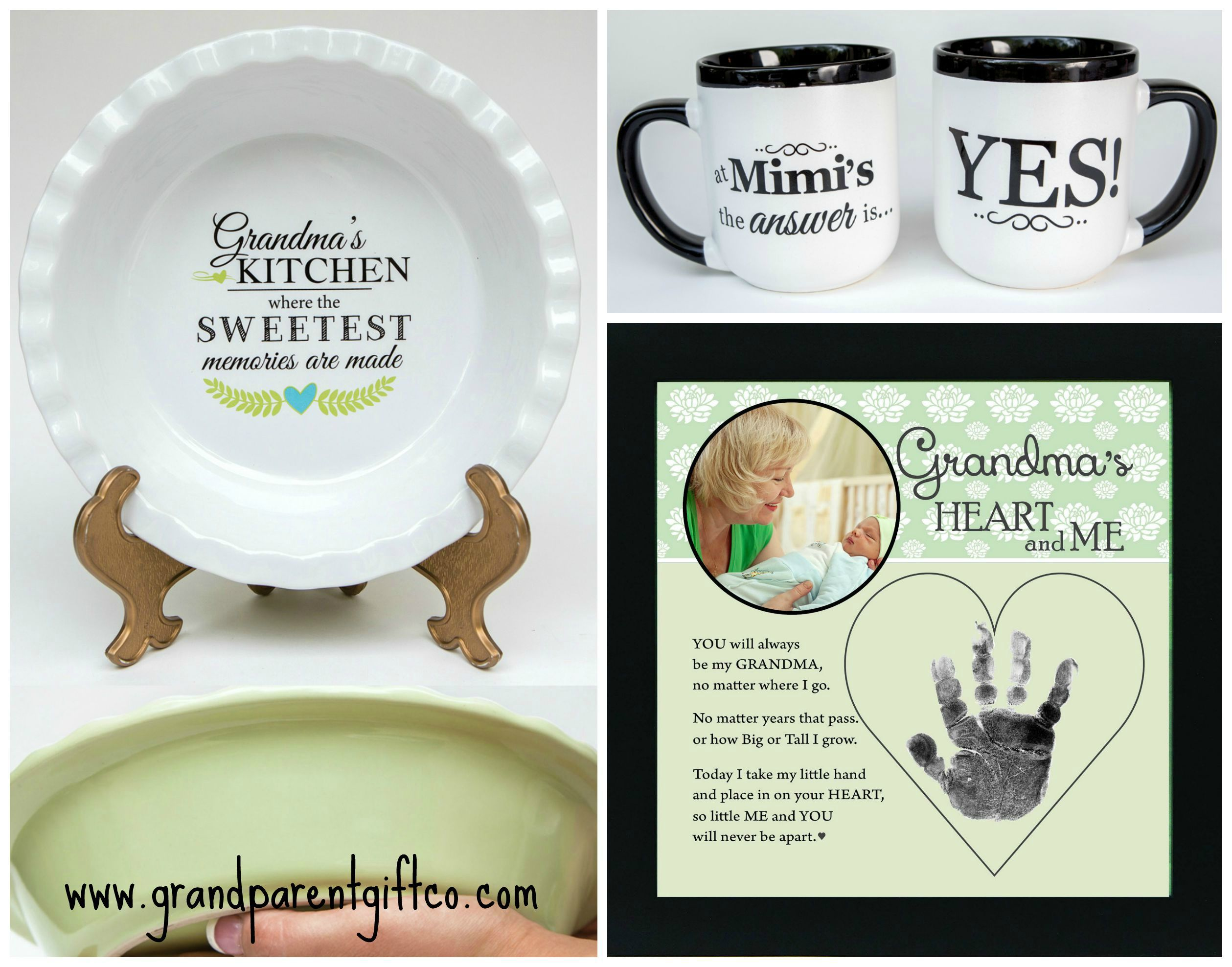 Pie Plates and Coffee Mugs and Handprint Frames, oh my! Get Grandma ...