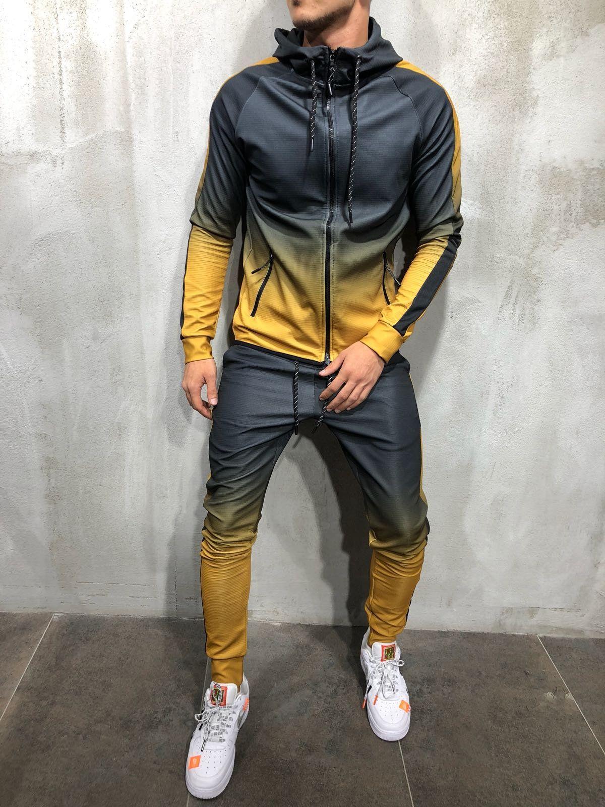 9519d365de73 Hooded Tracksuit Dip Dye - Mustard . . . .  tracksuit  sweatsuit   streetwearfashion