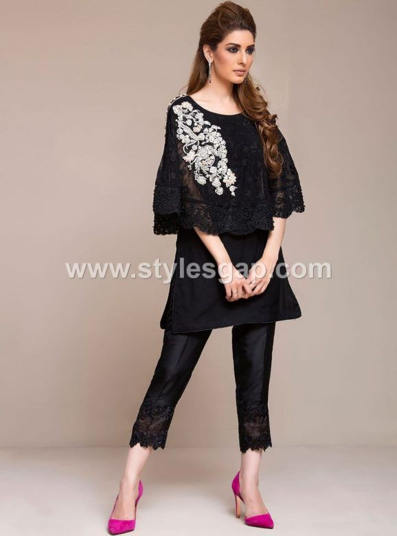 Latest Pakistani Cape Style Dresses