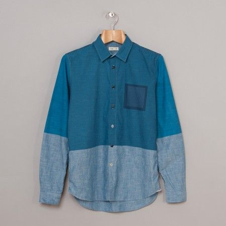 Folk Half Full Shirt (Chambray Printed) | Oi Polloi