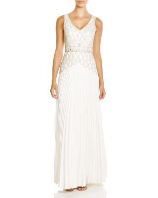Sue Wong Sleeveless V-Neck Embellished Gown | Bloomingdale's