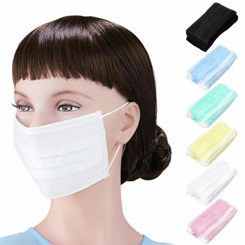 OOTDTY 3-Ply Earloop 50pcs Medical Face Mouth Masks Dental Nail ...
