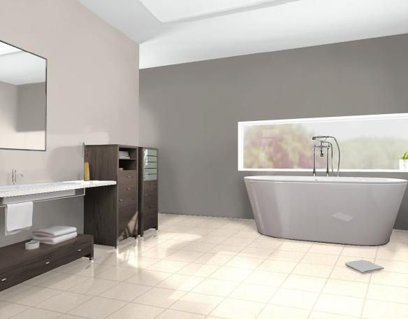 Interior - Bathroom - Colour selection done with Haymes Paint