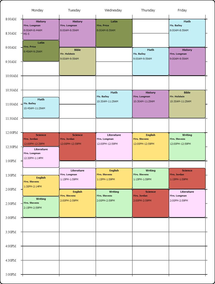 make a schedule online