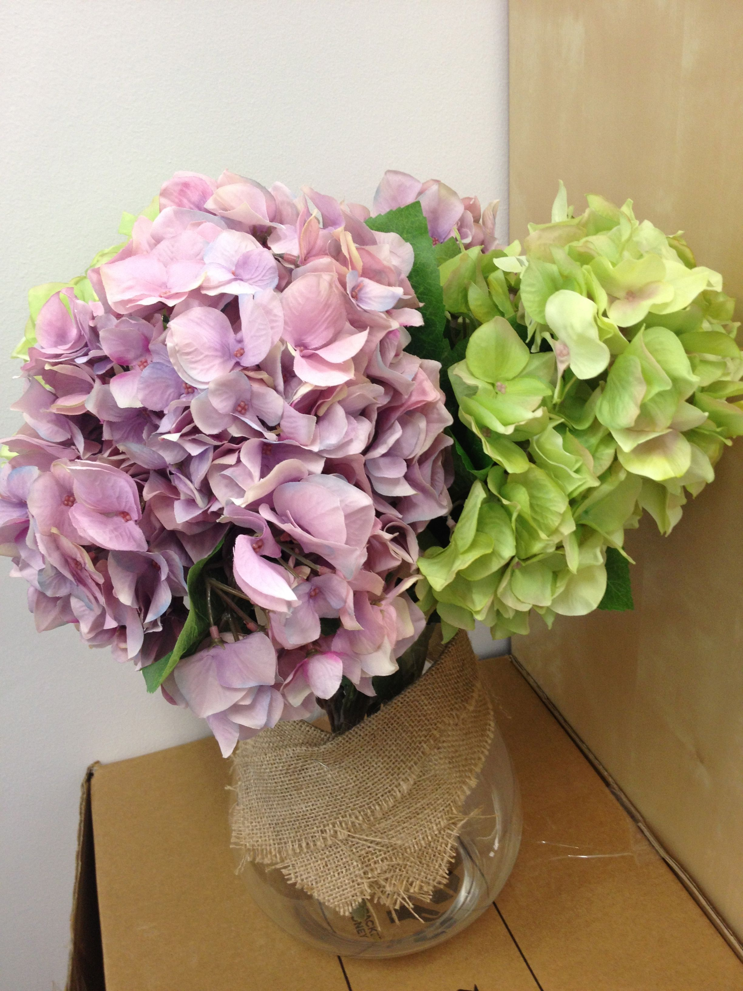 Wedding decorations home  Hydrangea Pink u Green Good for outdoor wedding decorations  home