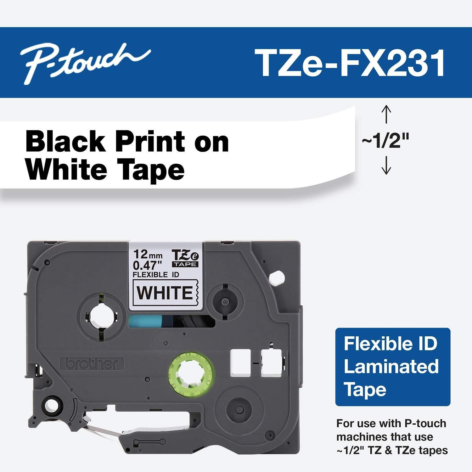 Take A Look At This New Item Available Brother Tzefx231 Check It Out Here Http Www Widgetree Com Produ In 2020 White Tape Label Maker Tape Brother Label Maker