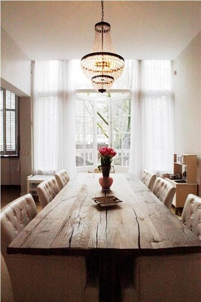love the wood table