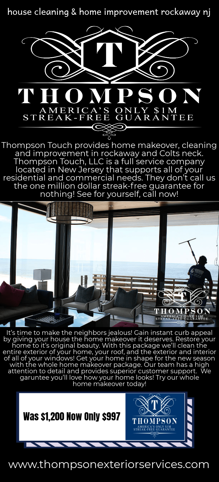 Thompson Touch Provides Home Makeover Cleaning And Improvement In Rockaway And Colts Neck Thompson Touch Llc Is A Full Service Clean House Home Improvement Cleaning