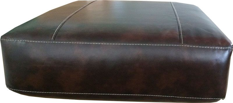 White Leather Sofa Rectangular Sofa Cushion with Bonded Leather Cover in Brown or Black with White Detail Stitching Medium