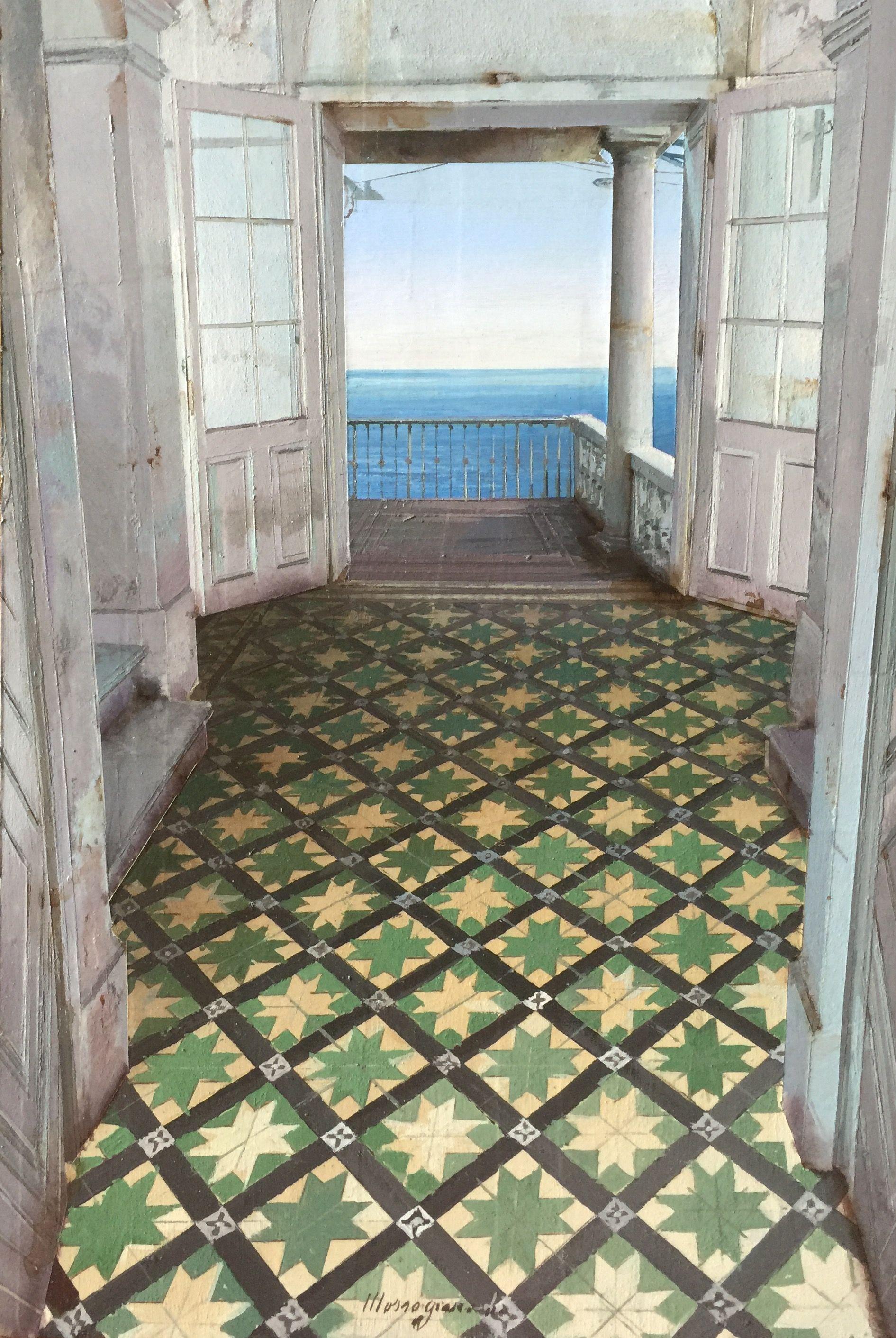 Matteo massagrande terrazza sul mare 2016 mixed media for Finte piastrelle