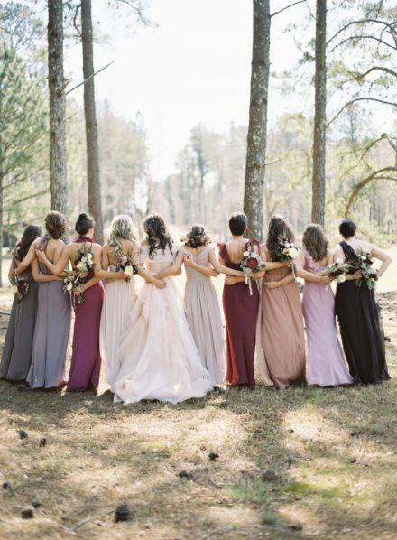 Damas de honor vestidos diferentes